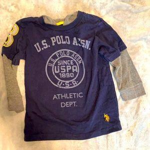 US Polo Assn size 4 hooded shirt boys